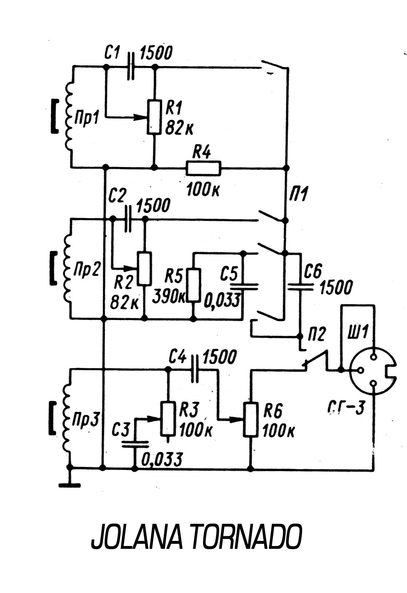 схема темброблока для безладового баса