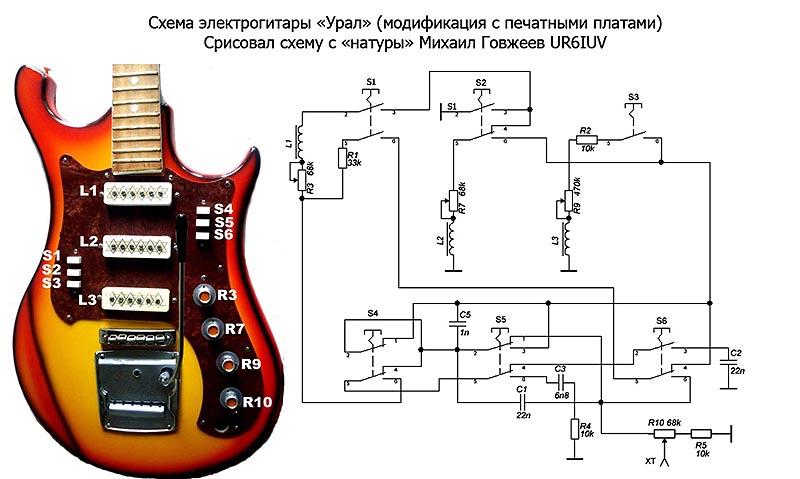 Блок схема бас гитары