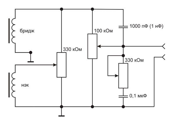 Схема темброблока.
