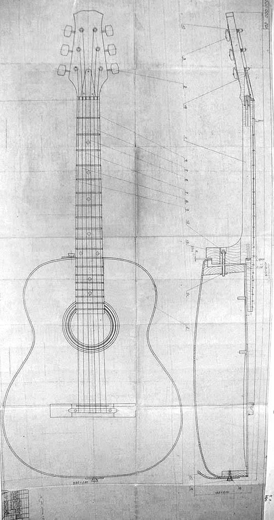 Акустическая гитара своими руками чертежи 89